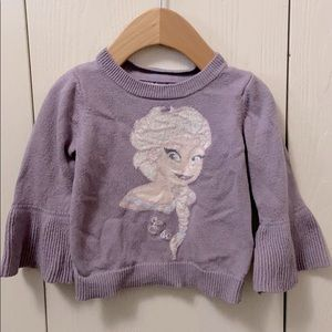 GAP Mauve Elsa Frozen Knit Sweater